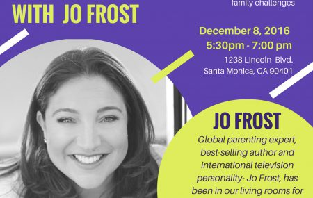 Join Jo Frost to have the chance to get personalized questions answered on how to handle the most common family challenges on Thursday, December 8, 2016 from 5:30 to 7:00 pm. This event is hosted by the Boys & Girls Clubs of Santa Monica at 1238 Lincoln Blvd., Santa Monica, CA 90401.